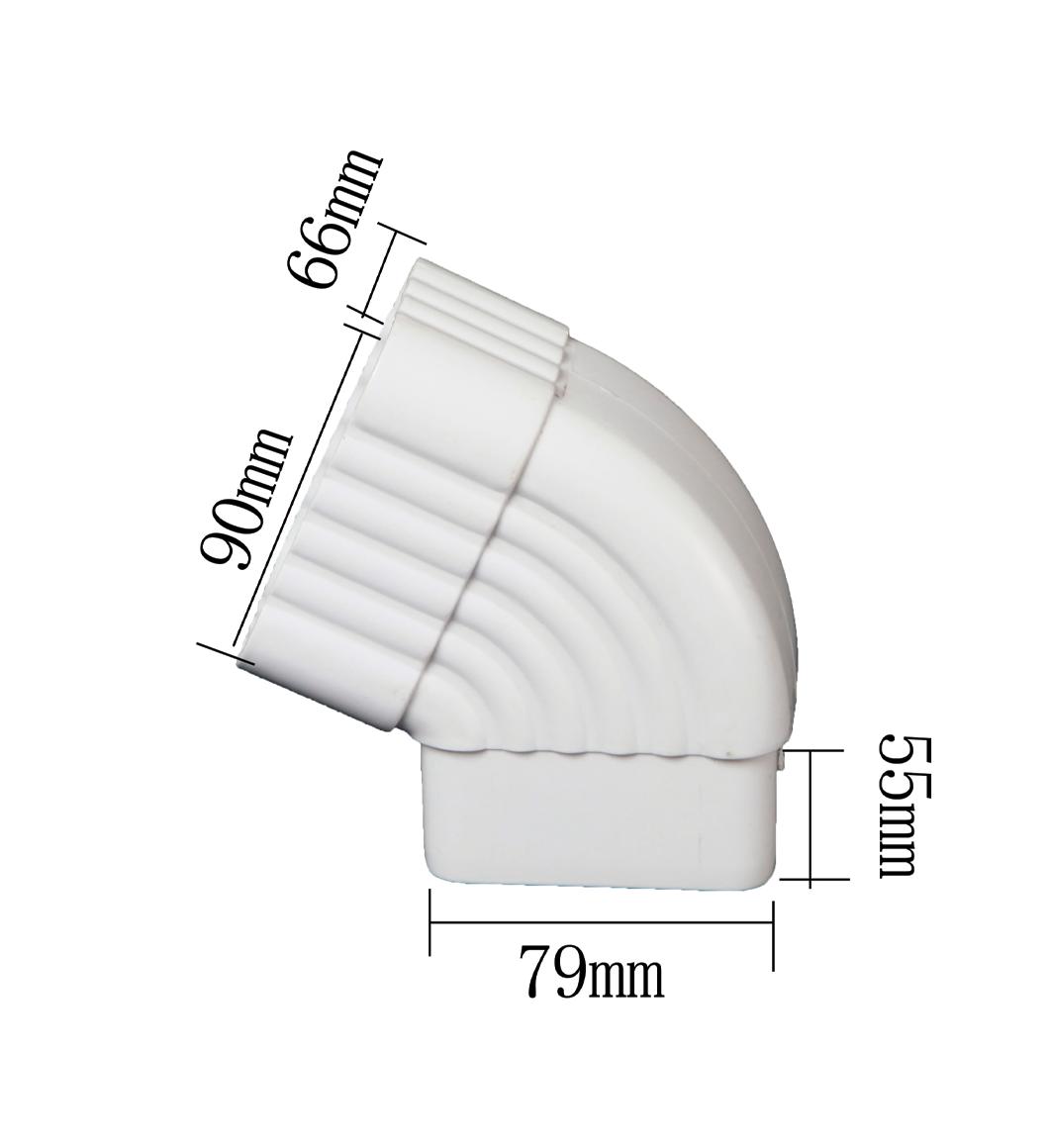 PVC 65 Degrees Square Diverter